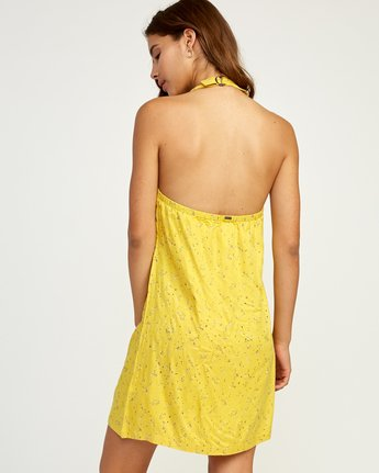 2 90s Baby Halter Dress Yellow WD13TR90 RVCA