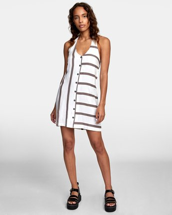 1 90s Baby Halter Dress White WD13TR90 RVCA