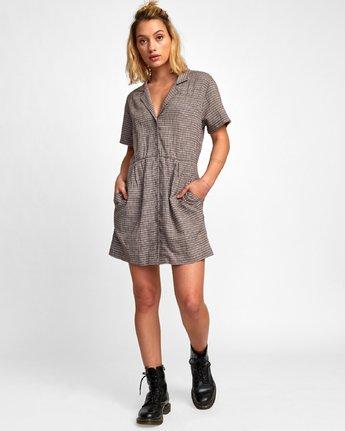 5 Breezy Shirt Dress Brown WD13WRBR RVCA