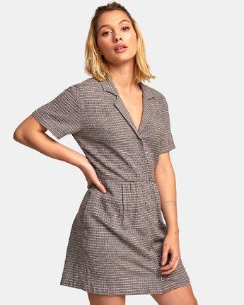 1 Breezy Shirt Dress Brown WD13WRBR RVCA