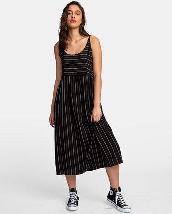 3 Square One Midi Dress Black WD14WRSO RVCA