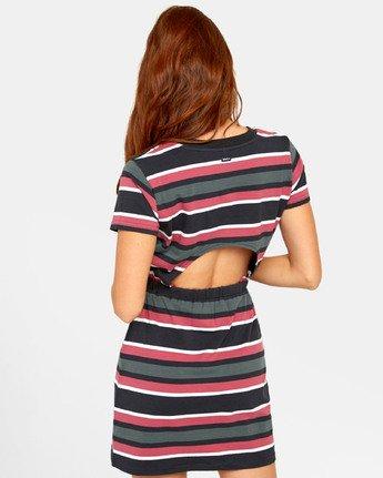 3 DAIZED T-SHIRT DRESS Black WD151RDA RVCA