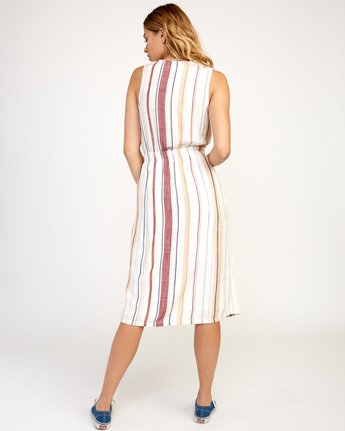 4 Arizona Woven Midi Dress White WD16TRAR RVCA