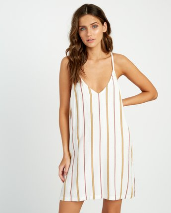 0 Fluke Striped Dress White WD17URFS RVCA
