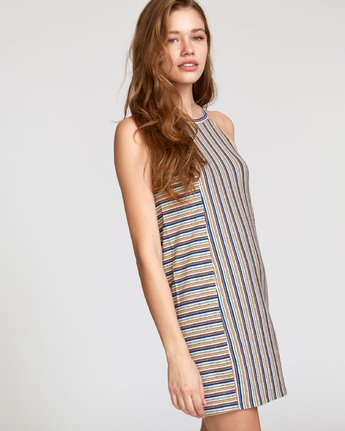 2 Bailey Striped Knit Dress Brown WD17VRBS RVCA