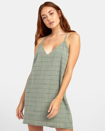1 ADIOS TANK DRESS Green WD181RAD RVCA