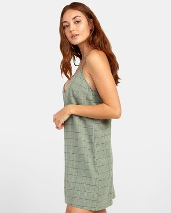 2 ADIOS TANK DRESS Green WD181RAD RVCA