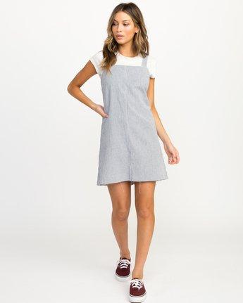 3 Tide Shift Striped Dress Silver WD18QRTI RVCA