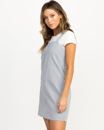 1 Tide Shift Striped Dress Silver WD18QRTI RVCA