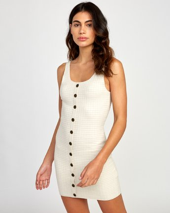 1 Delaila Knit Tank Dress Beige WD18VRDE RVCA
