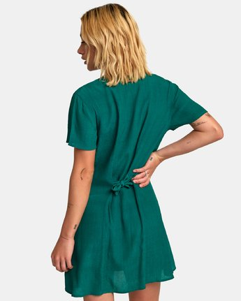 2 Guilt Button-Up Dress Green WD20WRGU RVCA