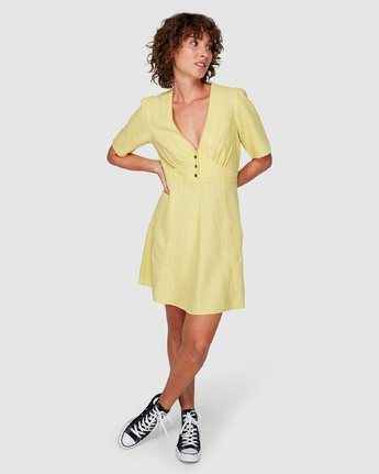 5 Lemon Crane Dress Yellow WD82WRLC RVCA