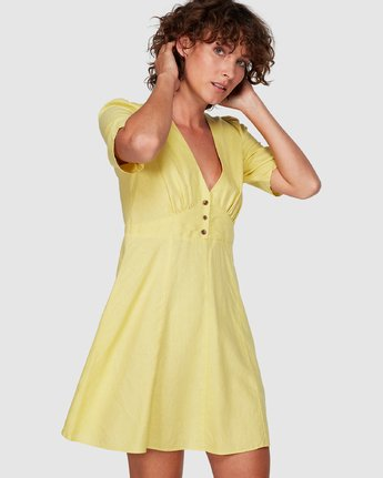 1 Lemon Crane Dress Yellow WD82WRLC RVCA