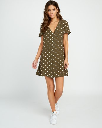 5 Benji Button-Up Dress Green WD90TRBD RVCA