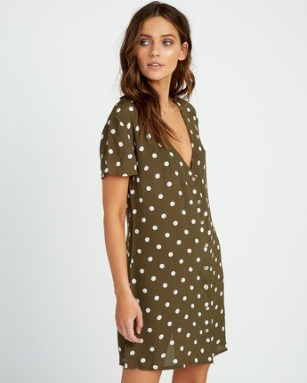 3 Benji Button-Up Dress Green WD90TRBD RVCA