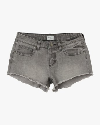 5 Hello Mellow Denim Cutoff Shorts Grey WF206HEL RVCA