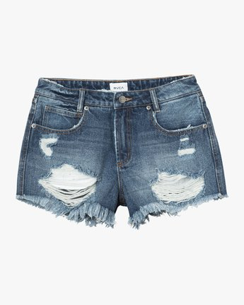 5 The BF Denim Shorts Blue WG201THE RVCA