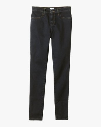 4 Hi Roader High-Waist Denim Jeans Blue WGDP01HI RVCA