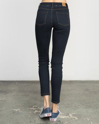 2 Hi Roader High-Waist Denim Jeans Blue WGDP01HI RVCA