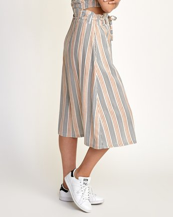 1 Oslo Striped Midi Skirt Beige WK01TROS RVCA