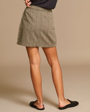 2 Natwest High Rise Skirt Brown WK01VRNA RVCA