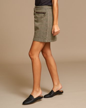 1 Natwest High Rise Skirt Brown WK01VRNA RVCA