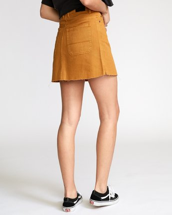 2 Rowdy Denim Mini Skirt Orange WK01VRRM RVCA