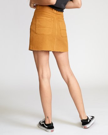1 Rowdy Denim Mini Skirt Orange WK01VRRM RVCA
