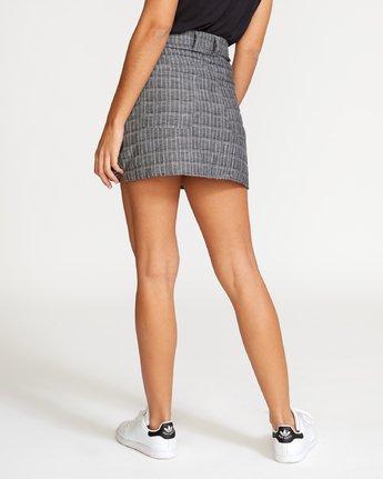 2 Rowdy Plaid Denim Mini Skirt Grey WK01VRRP RVCA