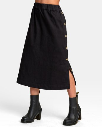 5 Jinn Woven Midi Skirt  WK01WRJI RVCA