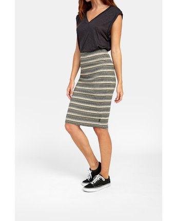 4 PICK ME UP KNIT SKIRT Brown WK021RPI RVCA