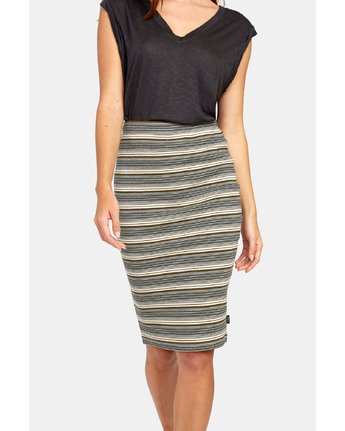 9 PICK ME UP KNIT SKIRT Brown WK021RPI RVCA