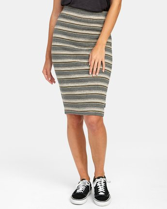 2 PICK ME UP KNIT SKIRT Brown WK021RPI RVCA