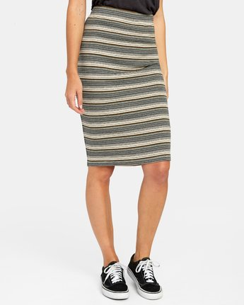 7 PICK ME UP KNIT SKIRT Brown WK021RPI RVCA