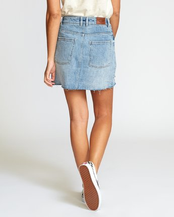 1 SIENA HIGH RISE DENIM SKIRT  WK02VRSI RVCA