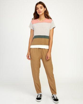 4 Recess Striped Knit T-Shirt Multicolor WK905REC RVCA