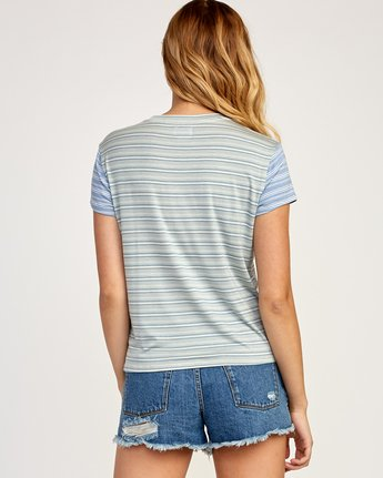 2 Recess Striped Knit T-Shirt Blue WK905REC RVCA