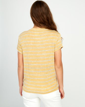 2 Recess Striped Knit T-Shirt Brown WK905REC RVCA