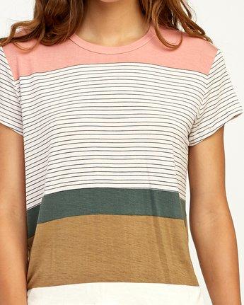 3 Recess Striped Knit T-Shirt Multicolor WK905REC RVCA