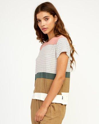 1 Recess Striped Knit T-Shirt Multicolor WK905REC RVCA