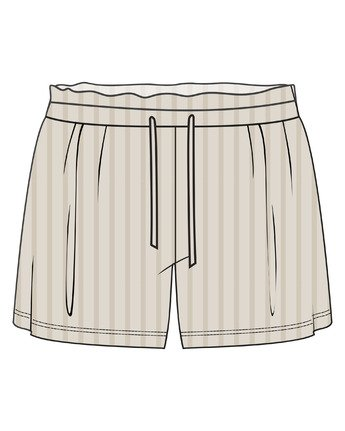 3 ONE NIGHT SHORT Brown WL023RON RVCA