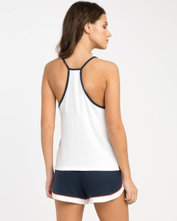 2 Throwback Tank Top White WL03NRTH RVCA