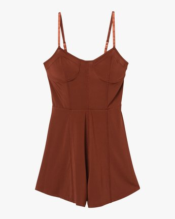 5 Bare Silky Lounge Romper Brown WL03QRBA RVCA