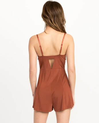 3 Bare Silky Lounge Romper Brown WL03QRBA RVCA