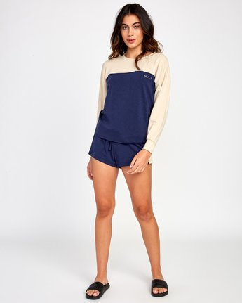 3 Sophmore Fleece Pullover Blue WL04VRSO RVCA