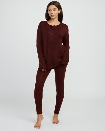 3 Urboyfriends Knit Henley Sweater  WL06SRUR RVCA