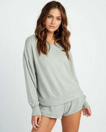 0 Daydream Knit Sweatshirt Green WL06URDA RVCA