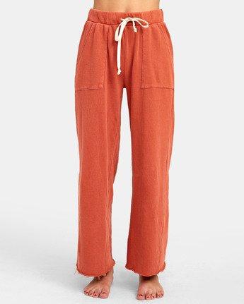 2 PEPPER WIDE LEG FLEECE PANT Orange WL071RPE RVCA