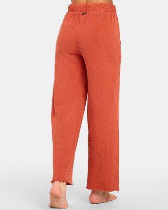 5 PEPPER WIDE LEG FLEECE PANT Orange WL071RPE RVCA