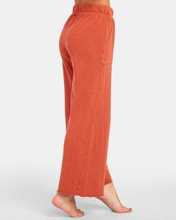6 PEPPER WIDE LEG FLEECE PANT Orange WL071RPE RVCA